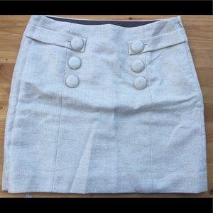 J. Crew wool cream skirt
